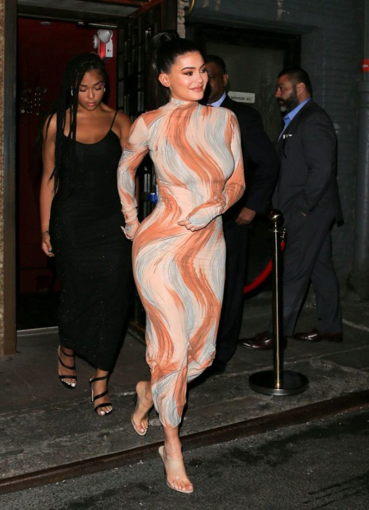 Kylie wear the equivalent of human sausage skin